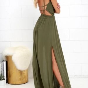 Lulu's Dresses - Lulus ▪ Lost in Paradise Cage Back Maxi Dress